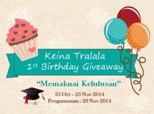 Keina Tralala Fisrt Birthday Giveaway