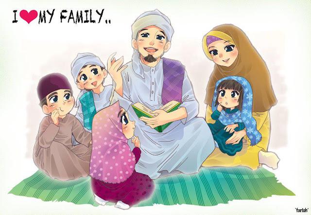 Gambaran keluarga sakinah idaman setiap shalih shaliha. Gambar dari sini